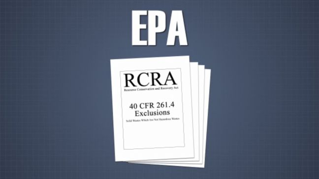 RCRA Hazardous Waste Exclusions Image