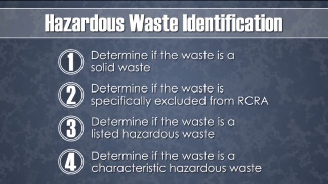 RCRA--Hazardous Waste Identification Image