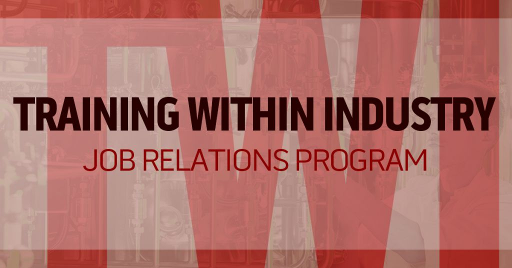 Training Within Industry (TWI) Job Relations Program Image