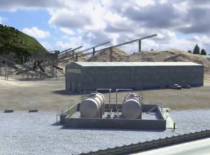 Image of buildings and other structures at a surface mine