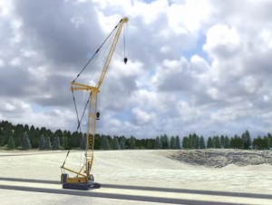 Image of Cranes at a Surface Mine