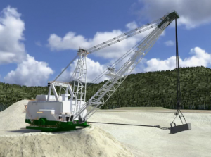 Image of Dragline at a Surface Mine
