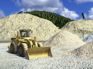 Image of a front-end loader at a surface mine