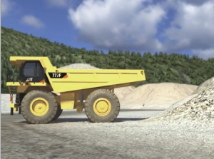 Image of Haul Truck at a Surface Mine