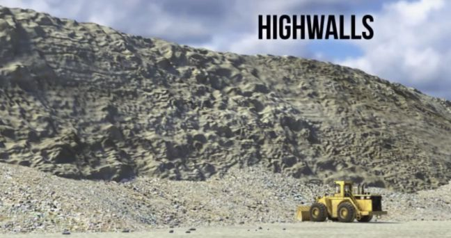 Surface Mining Highwalls Image