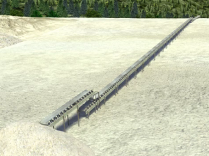 Image of in-pit conveyor system at a surface mine