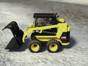 Image of a skid steer at a surface mine