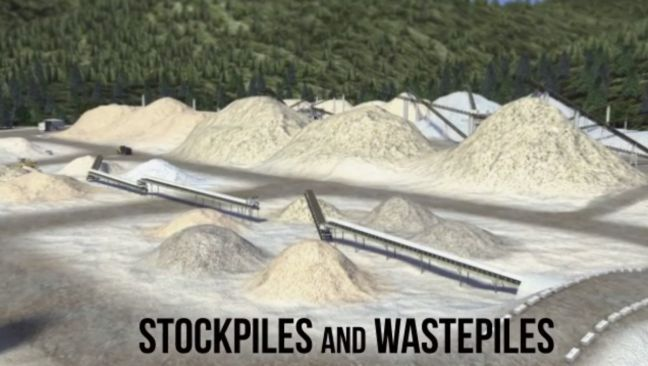 Surface Mining Stockpile and Wastepile Image
