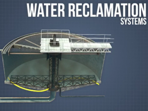 Image of a water reclamation system at a surface mine