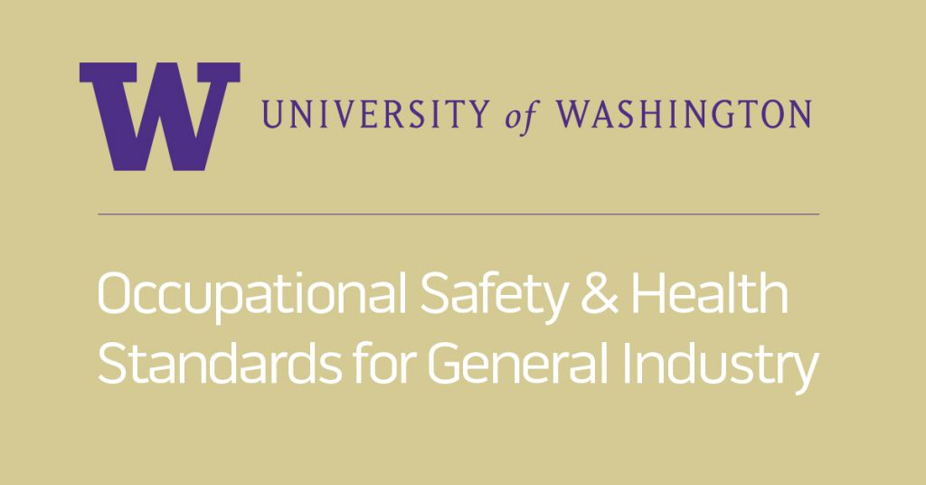 Osha 511 Occupational Safety And Health Standards For General