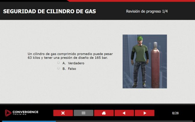 Spanish Language Online Safety Training Practice Question