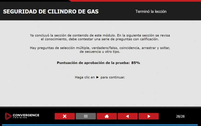 Online Safety Training Spanish Language Test Opening Screen Image