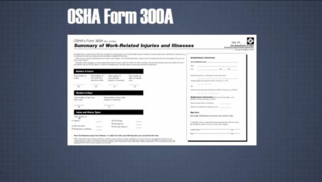 OSHA Form 300A Image