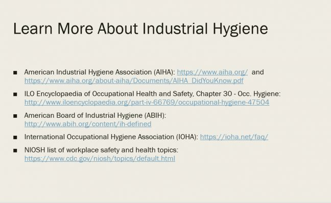 Learn About Industrial Hygiene Image