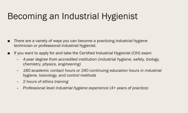 How to Become an Industrial Hygienist Image