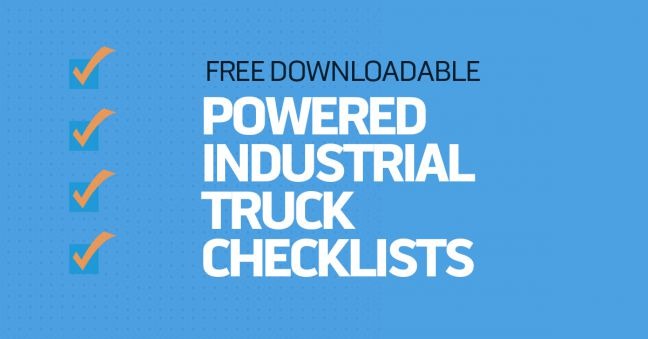 Free Downloadable Powered Industrial Truck (PIT) Checklists