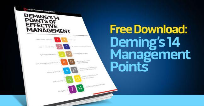 Deming's 14 Management Points Image