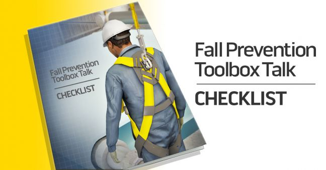 Fall Prevention Toolbox Talk Checklist Image
