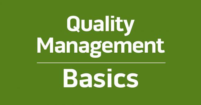 Quality Management Basics Image