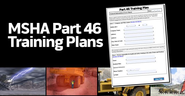 MSHA Training Plan Image