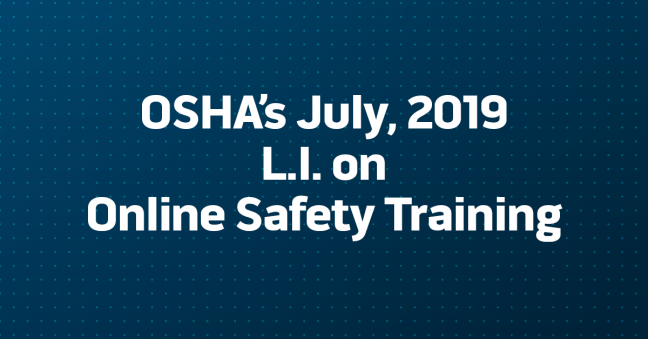 Image about OSHA Letter of Interpretation on Online Safety Training