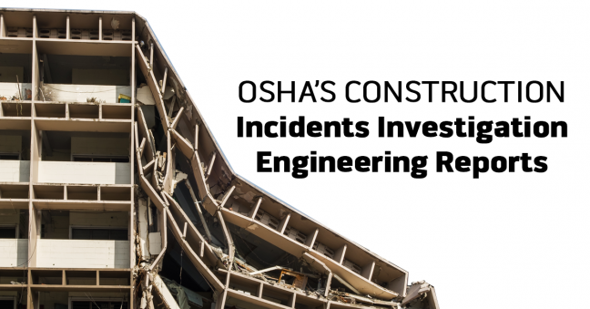 OSHA Construction Engineering Incident Report Image