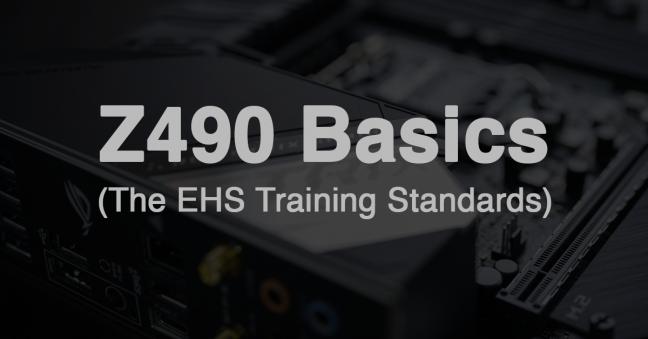 Z490 EHS Training Standard Basics Image