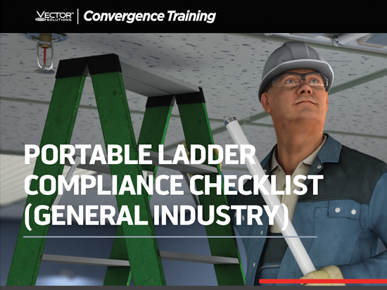 OSHA 1910 General Industry Portable Ladder Compliance Checklist Button