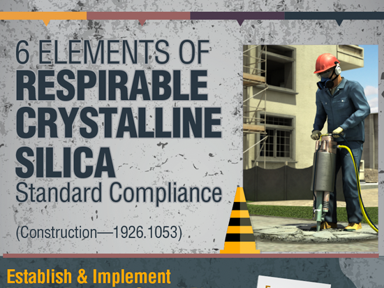 OSHA 1926 Silica Construction Compliance Infographic Button