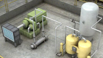 Industrial power systems in factory - screenshot from Convergence course