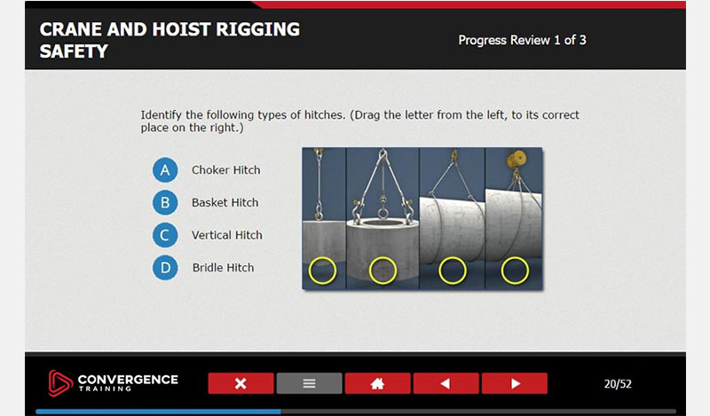 Our online MSHA training incorporates progress reviews throughout each course.