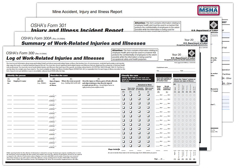 Osha 300a printable form for Sharps injury log template