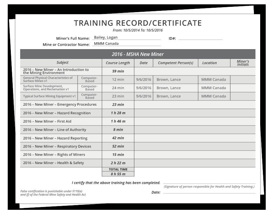 msha training & compliance management software