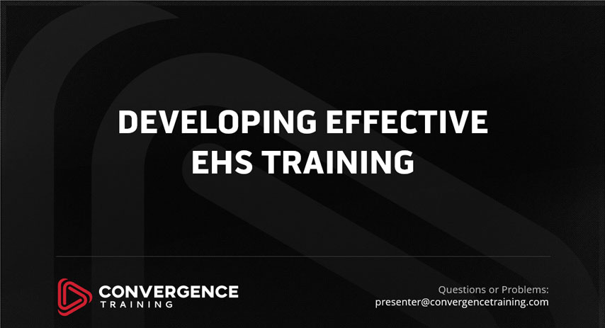 effective ehs training webinar