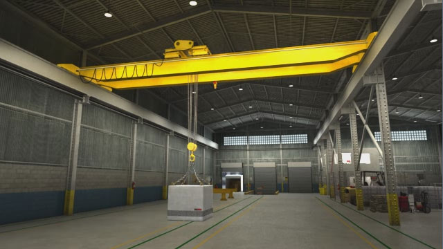 Overhead crane safety video convergence training a one ton load can produce several tons of stress on each sling arm at a low sling angle aloadofball Image collections