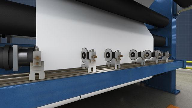 paper machine winder slitting